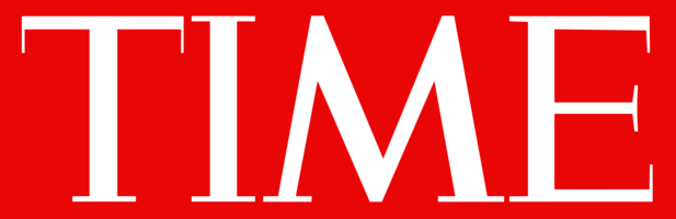 Time magazine logo red bg
