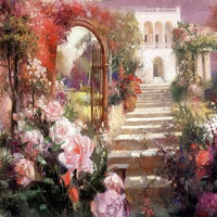 New mosaic full laid diamond painting cross stitch beautiful rose garden font b flowers b font