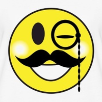 smiley face with mustache smiley face moustache