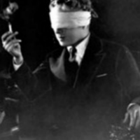 Chaplin blindfolded